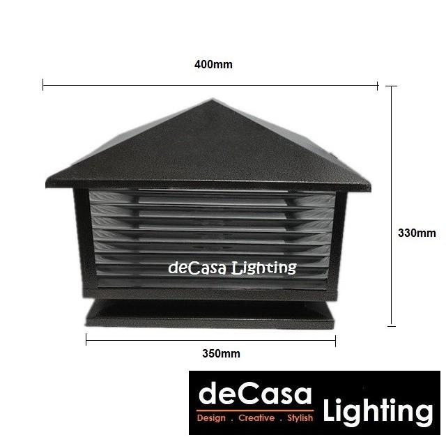 400MM BLACK / BROWN Outdoor Gate Lamp Outdoor Pillar Light Weather Proof Garden Light Lampu Pagar (88 / 66 / 28 / G913)