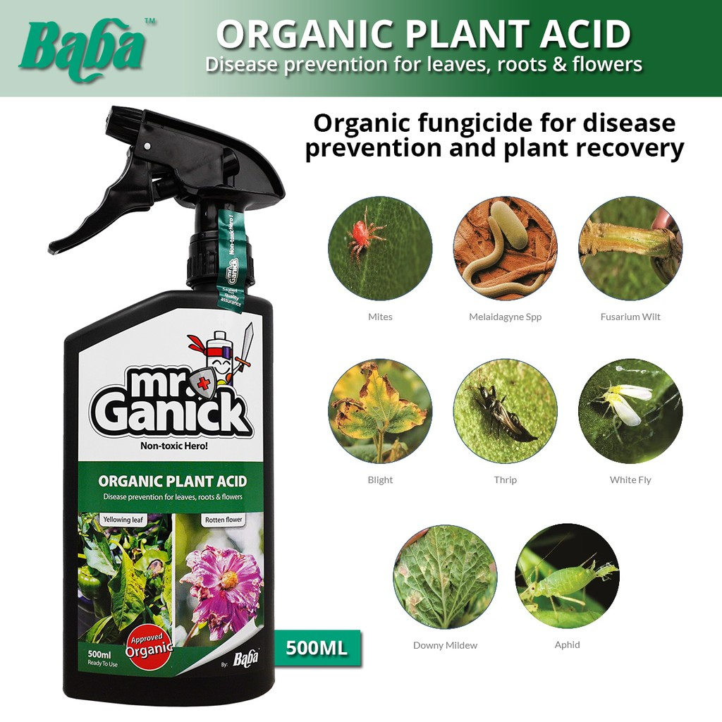 Baba Mr Ganick Organic Plant Acid Disease Prevention For Leaves, Roots & Flowers 500ML
