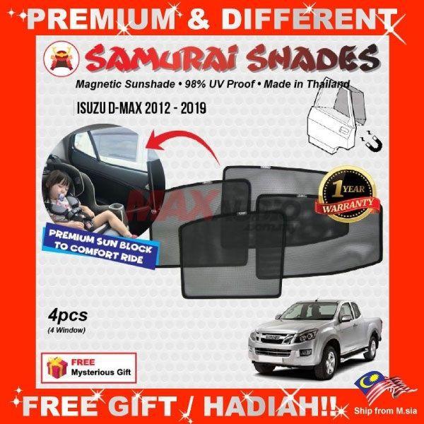 [FREE Gift] ISUZU D-MAX DMAX 2012 - 2018 SAMURAI FULLY MAGNETIC SUNSHADE