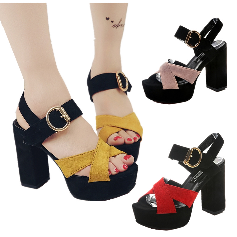 6db73dc90f8 Women 'S Deva Heidi Fashion Sexy Thick. High Heel Sandals