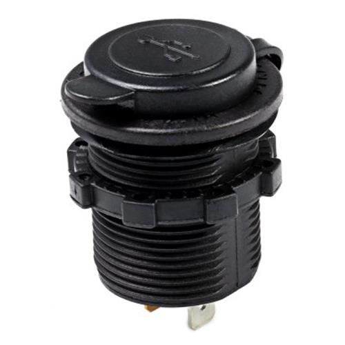 C939 5V 2.1A SINGLE USB VEHICLE POWER PLUG BLUE WORK LIGHT WATER RESISTANTSOCKET