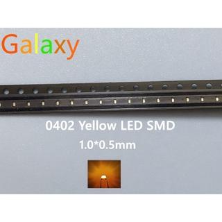 100PCS SMD LED Chip Yellow 0402 (1005) Surface Mount SMT
