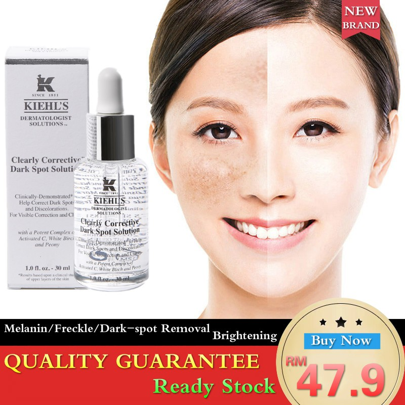 [Powerful Effect] KIEHL'S Clearly Corrective Dark Spot Solution Freckle  Melanin Sun Damage Speckle Fleck Remover 30ml