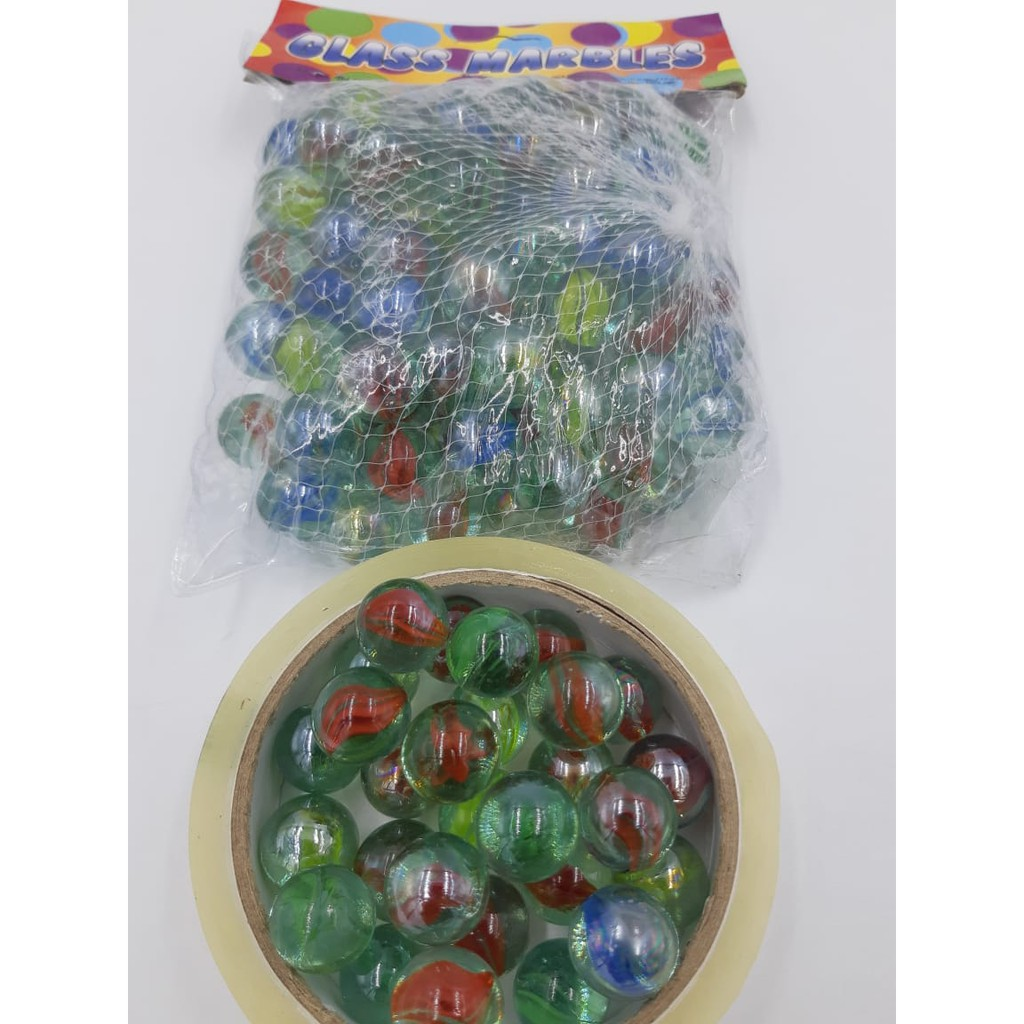 New Ready Stock Glass Marble Green Guli 90-100 biji