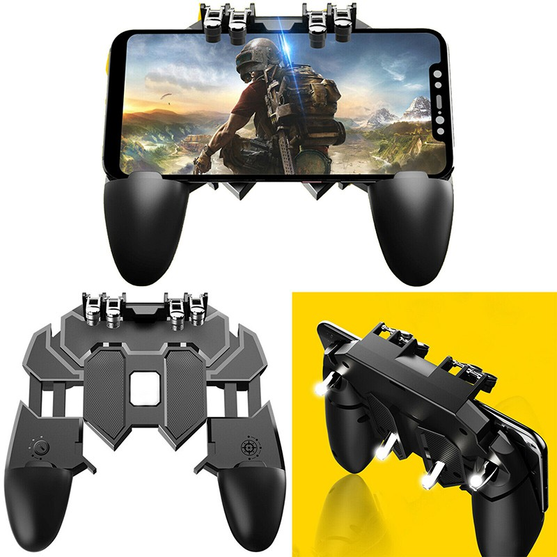 Orderly 5 In 1 Mobile Phone Gamepad Joystick For Iphone Android Game Controller L1 R1 Fire Shooter Buttons Trigger Handle For Pubg Special Buy Joysticks