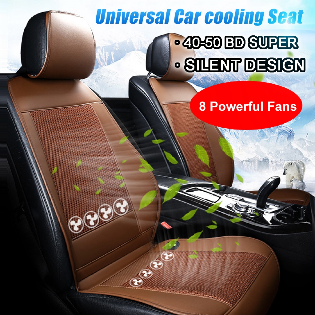 Universal Summer Wind Quiet Cooling Fan Mesh 1 Seat Only 12V For Universal Car