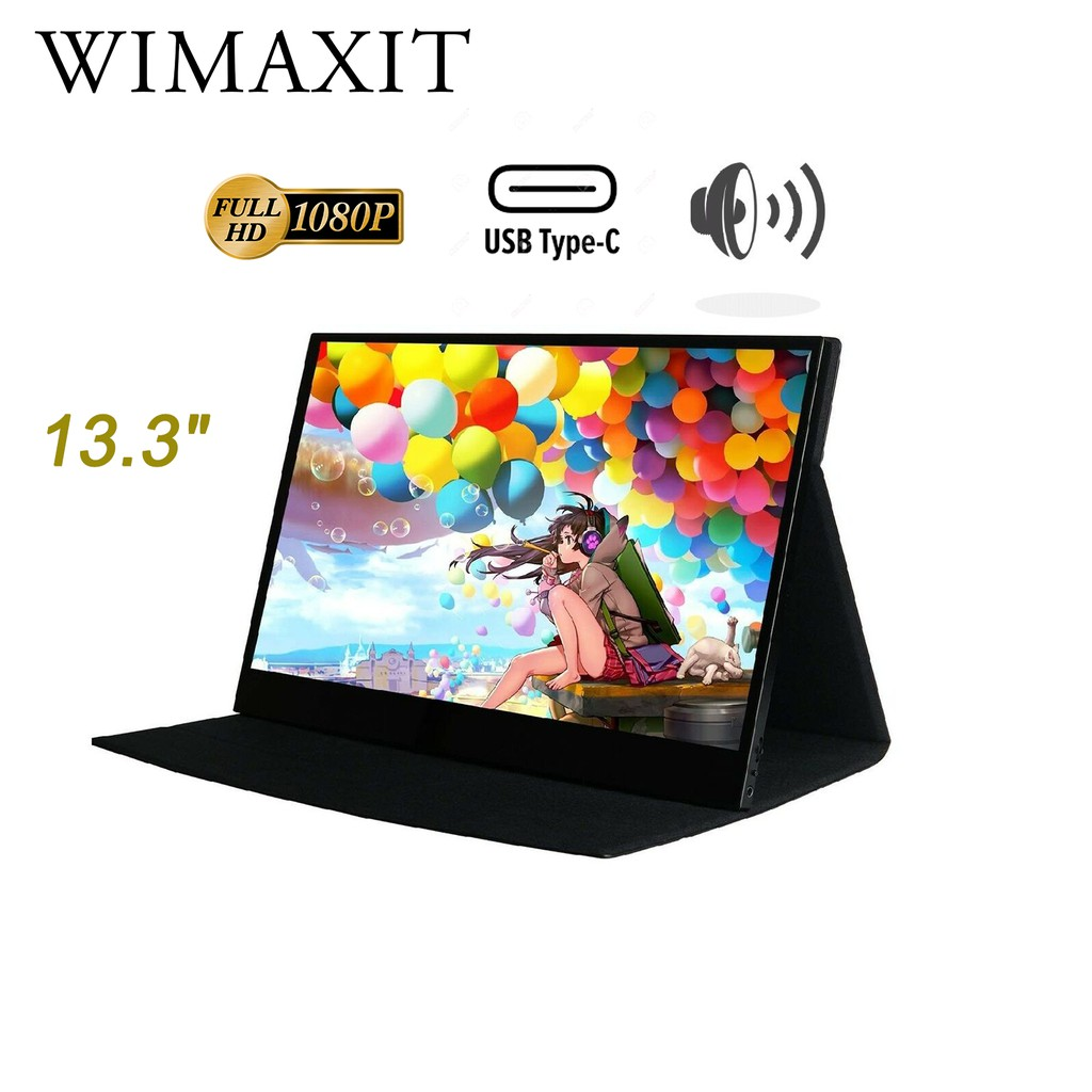 Wimaxit 13 3 Inch Portable Monitor Switch Laptop Xbox Hdmi Display Ips Screen Usb Type Ps4 1080 Thin M1332c Shopee Malaysia