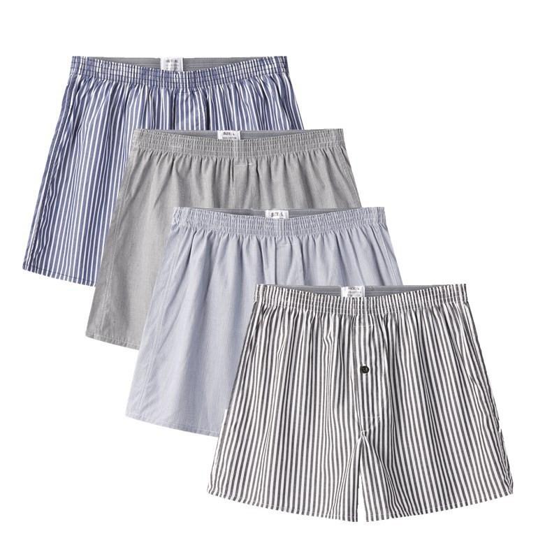 4pc Stripe Men's Underwear Softness Shorts Boxer Underpants Bedroom W