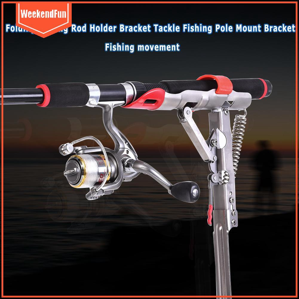 Adjustable Double Pole Bracket Fishing Rod Stand Holder Sea Fishing Tackle  st