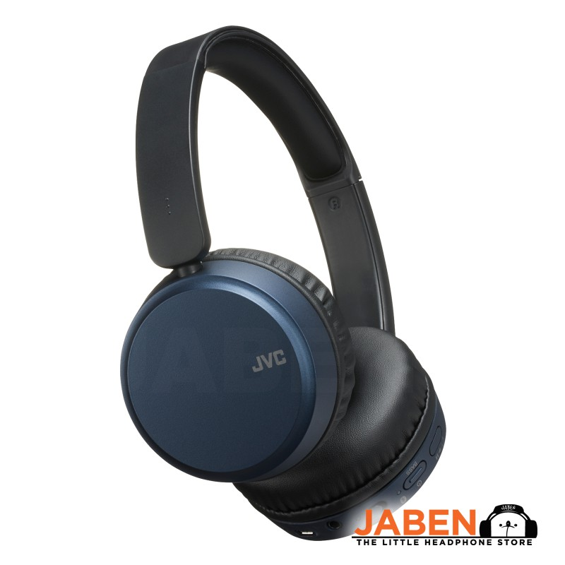 JVC HA-S65BN Active Noise Cancelling Bass Boost Remote Microphone Volume Control Closed Back On-Ear Headphones [Jaben]