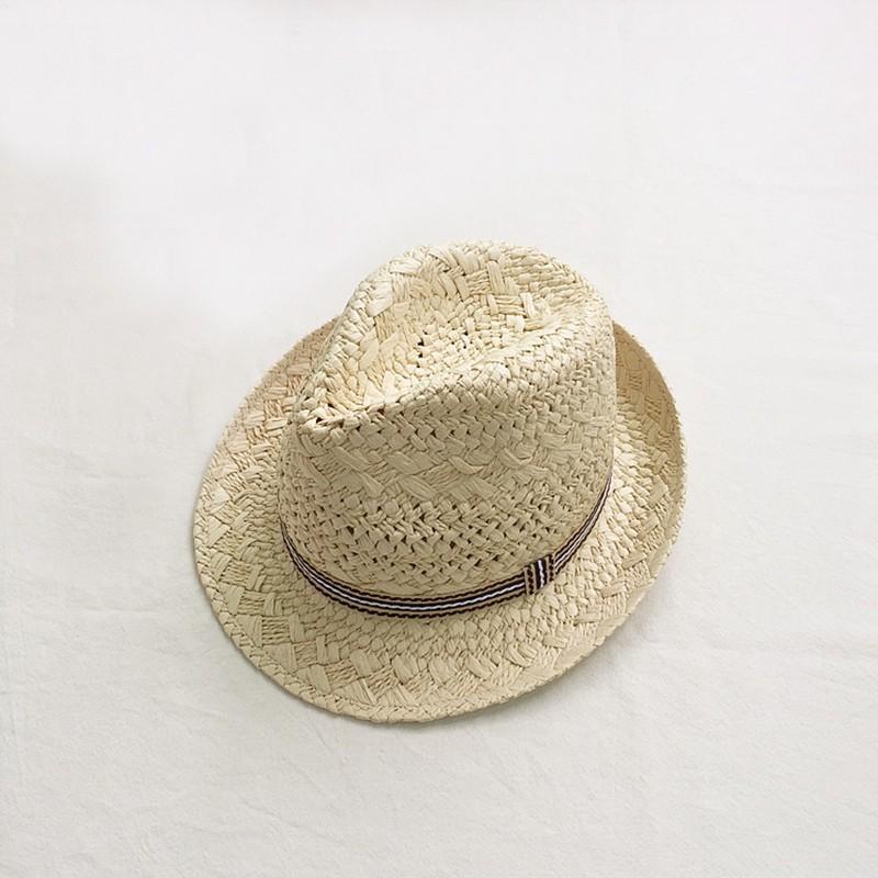 3ffa42512 Hand-Woven Lady Hat Sweet Retro Sun Hat Straw Hat Beach Hat Hollow Striped  Patch Jazz Hat NNM