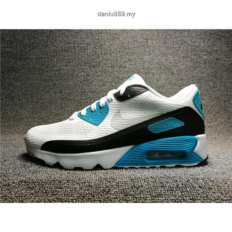 save off e2306 1b8ab Ready stock nike air max 90 flyknit ultra essenstial 25th white blue size  36-44