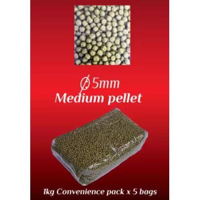 Koi Food - WANNA RED Koi Spirulina Gold 5kg - 45% Protein | Makanan Ikan Koi