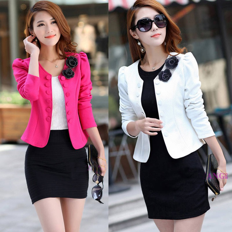 0a26c5deb495d ProductImage. ProductImage. Ready Stock Korean Fashion Women Long Sleeved Slim  Suit Collarless Casual Coat