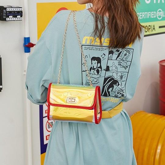 Ladies Korea Style Shiny Women Sling Bag 少女宝宝闪亮斜肩包 B00144