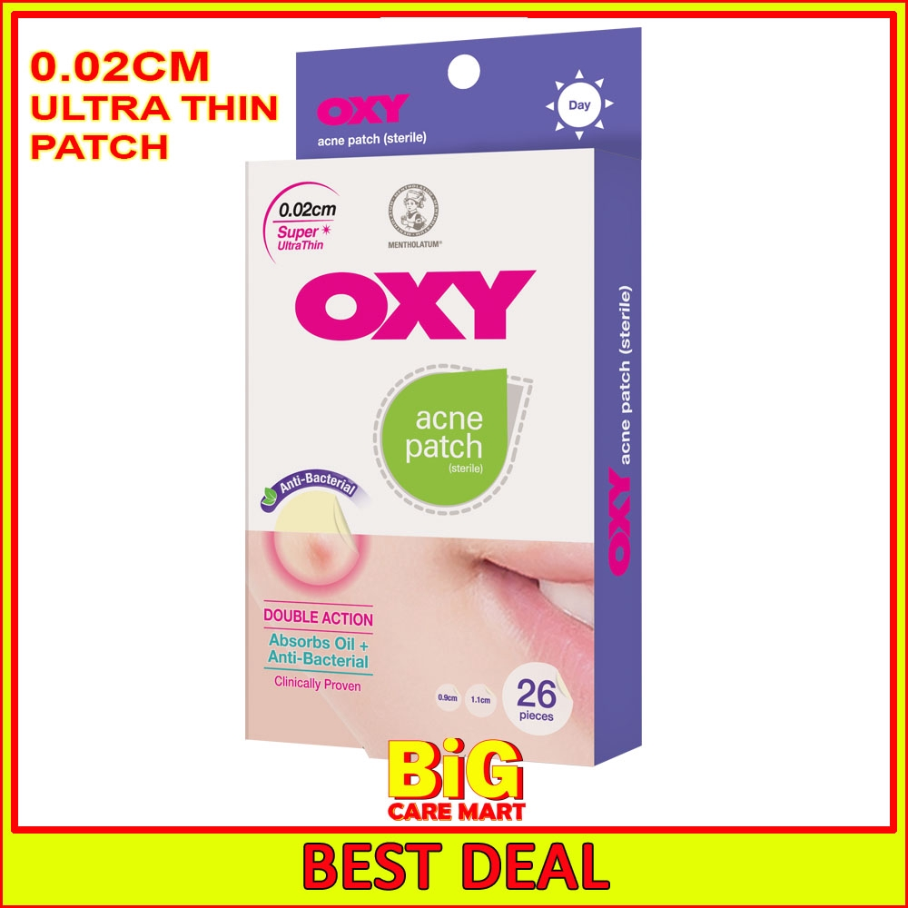 Oxy Acne Patch Day Ultra Thin 0.02cm 26pc