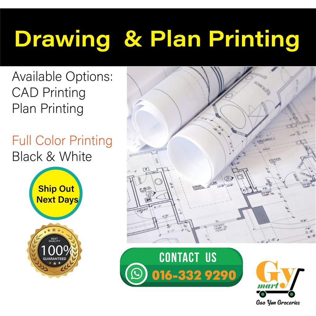 A1 Size Drawing & Plan Printing