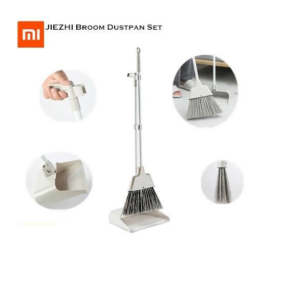XiaoMi Xiao Mi JIEZHI Broom Scraping Plastic Dustpan Set Non-Slip Handle