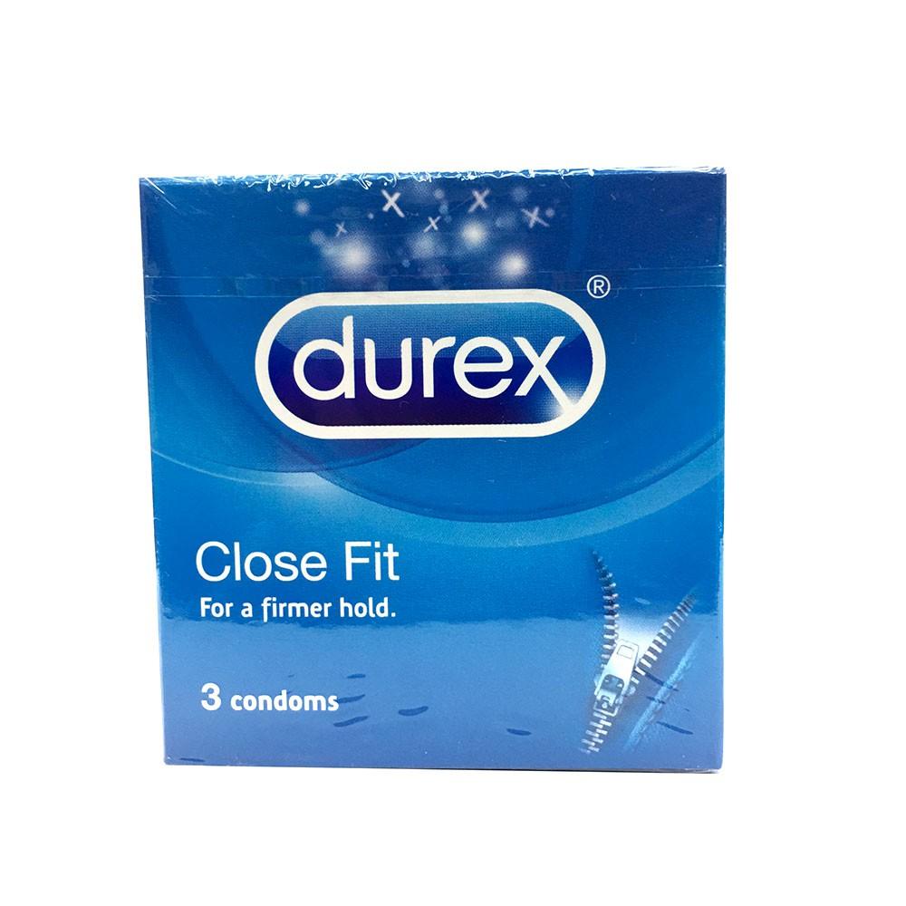 Durex Close Fit Condom Extra Tight Fitting Condoms 3\'s