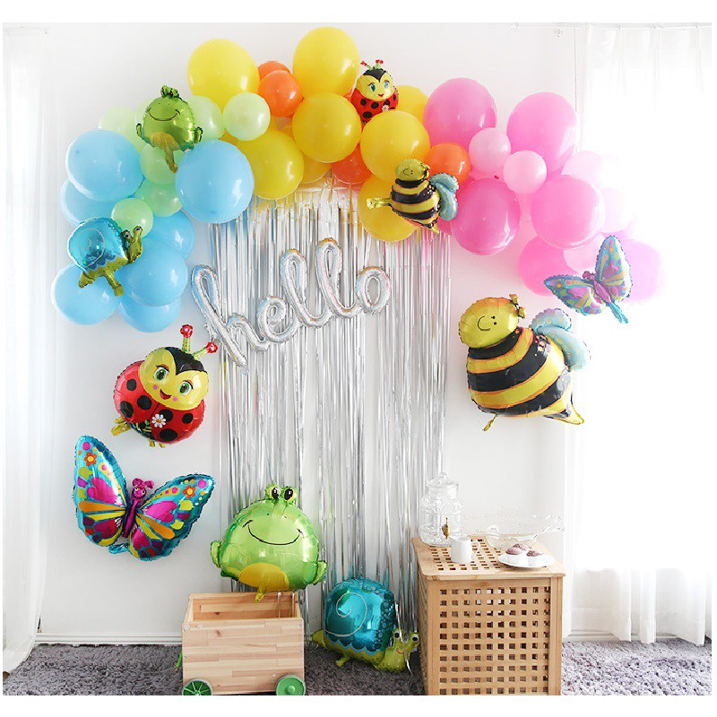 HUGE LADYBUG Insects Bug Foil Balloons Animal Birthday Party Supplies Decor 5Pcs