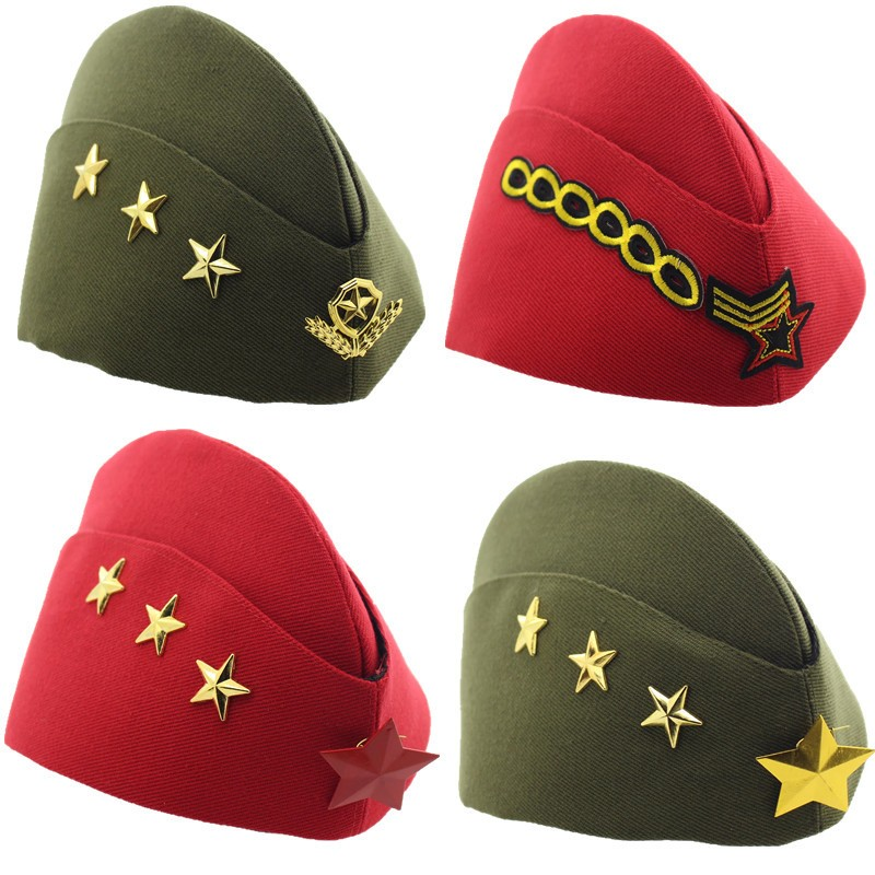 98a331af410 New Sailor Hat Square Dance Performance Canvas Army Fan Stewardess Boat Hat