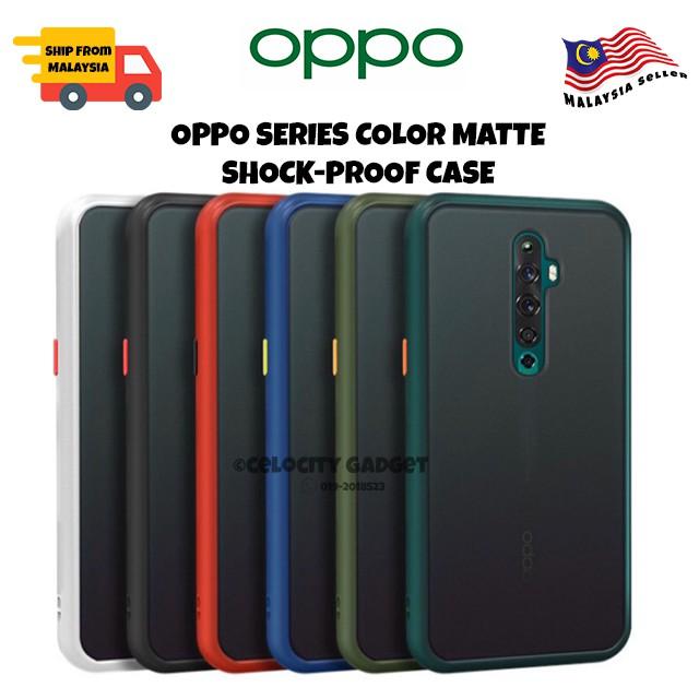 OPPO Reno3/Reno2/Reno2F/Reno/A92/A91/A9/A52020/A31/A5s/F9/A7/A12/A3s/A12e/A1k/A37 Color Matte Shockproof Case