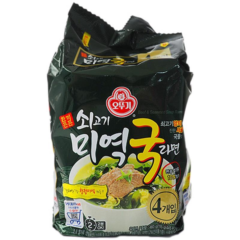 Korea Tumbler Beef Soup Pull Face 115gx4 Pack 小三美日 d525655