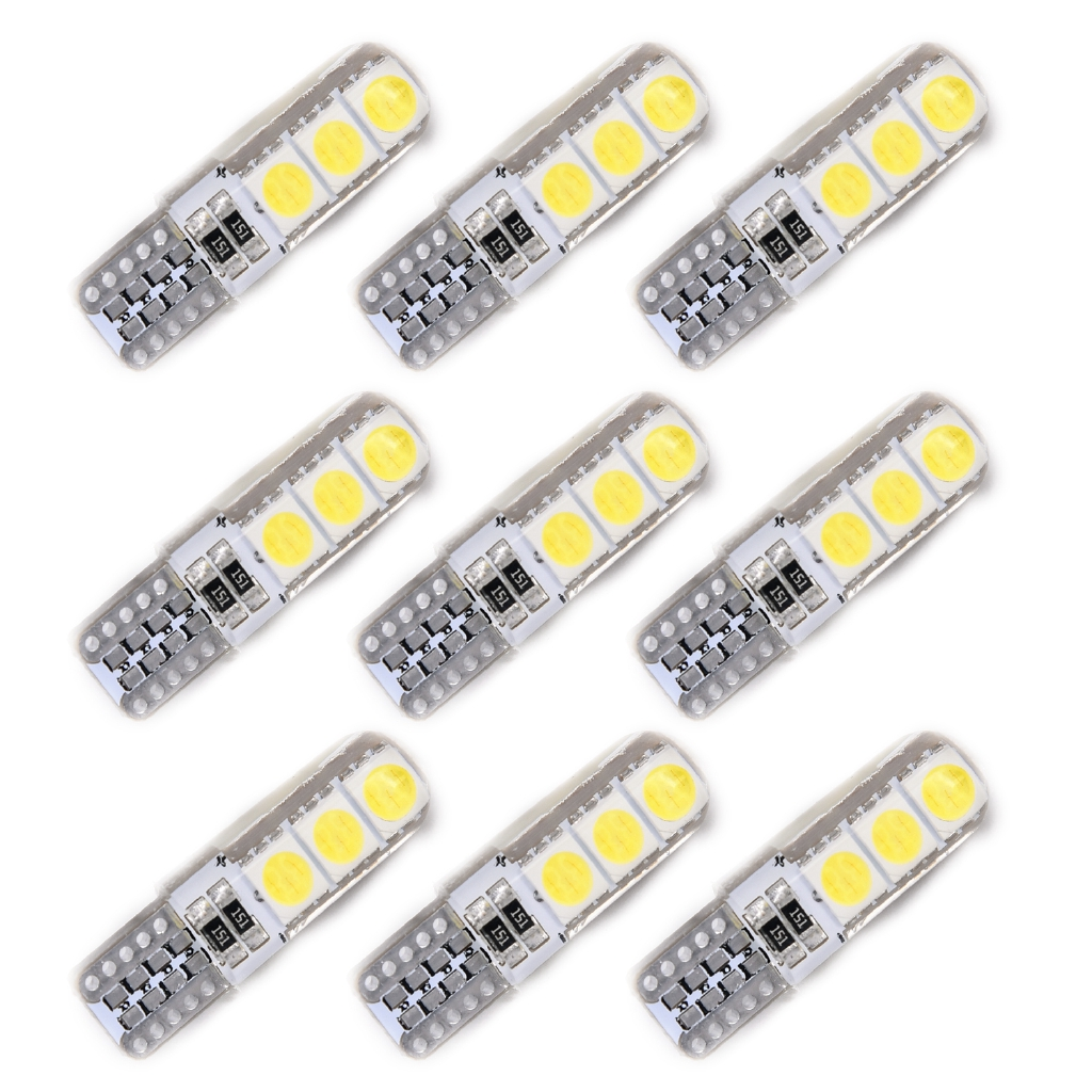 Set Silicone Led 10pcs 194 Wedge Canbus C2 Side T10 Shell Car Light Bulb W5w