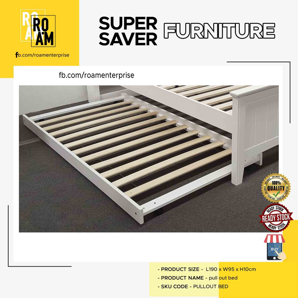 THOMAS SOLID WOOD QUEEN SIZE BED FRAME PULL OUT BED only 2 color