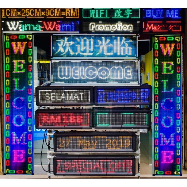 P10 Led Display Signboard/Running Board (WE CAN INPUT WORDING FOR YOU!!!)
