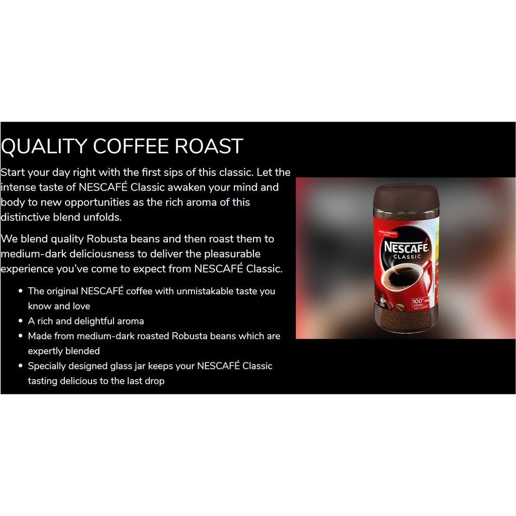 Nescafe Classic Jar (100g) | Shopee Malaysia