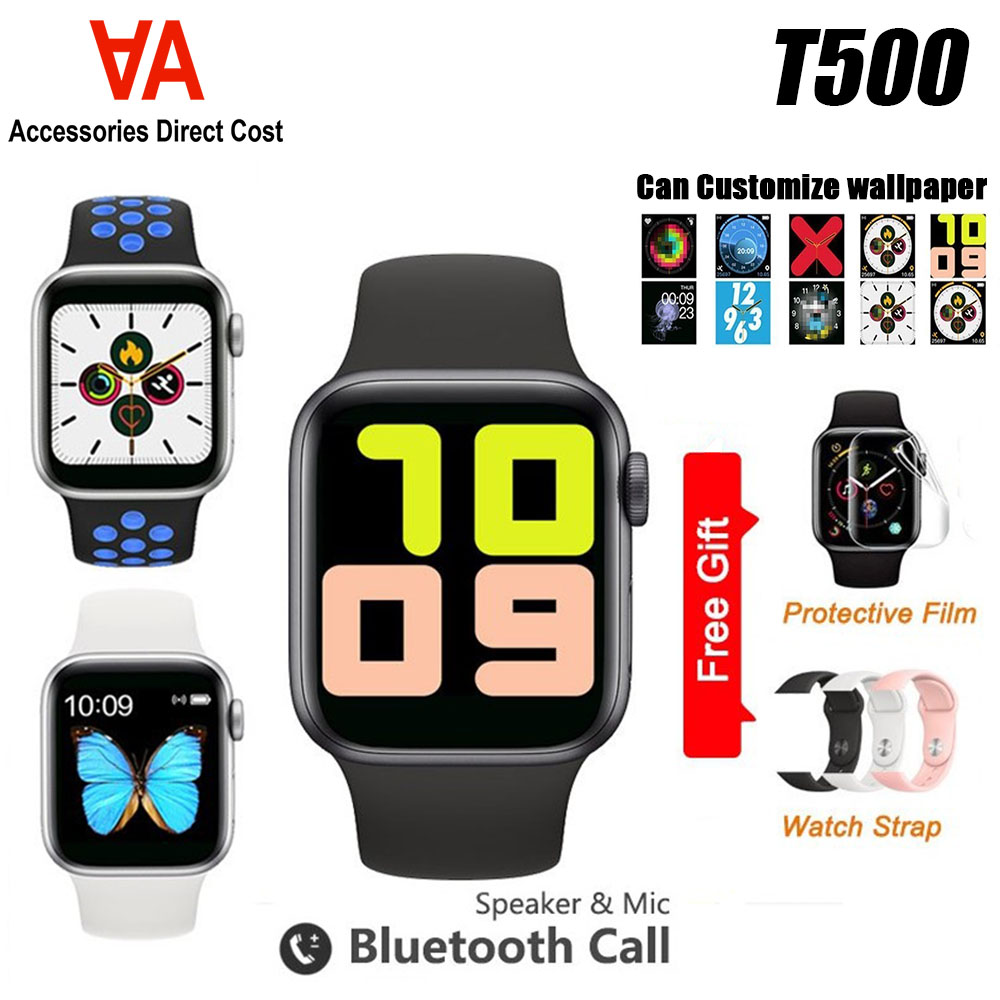 T500 Smart Watch Bluetooth Call Touch Screen Music Smartwatch Pedometer For android and iOS