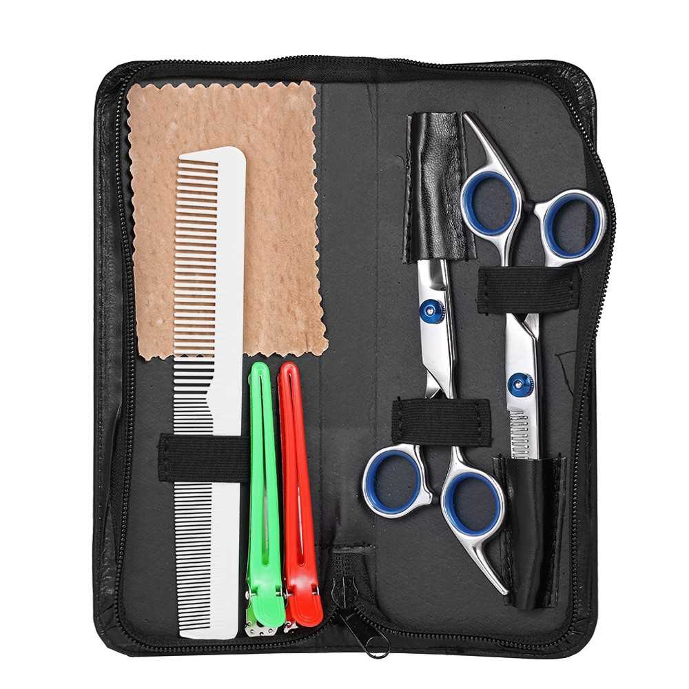 Professional Hair Cutting Scissors Set Barber Shears Hair Thinning Kit Salon Home Hairdressing Tool (Standard)