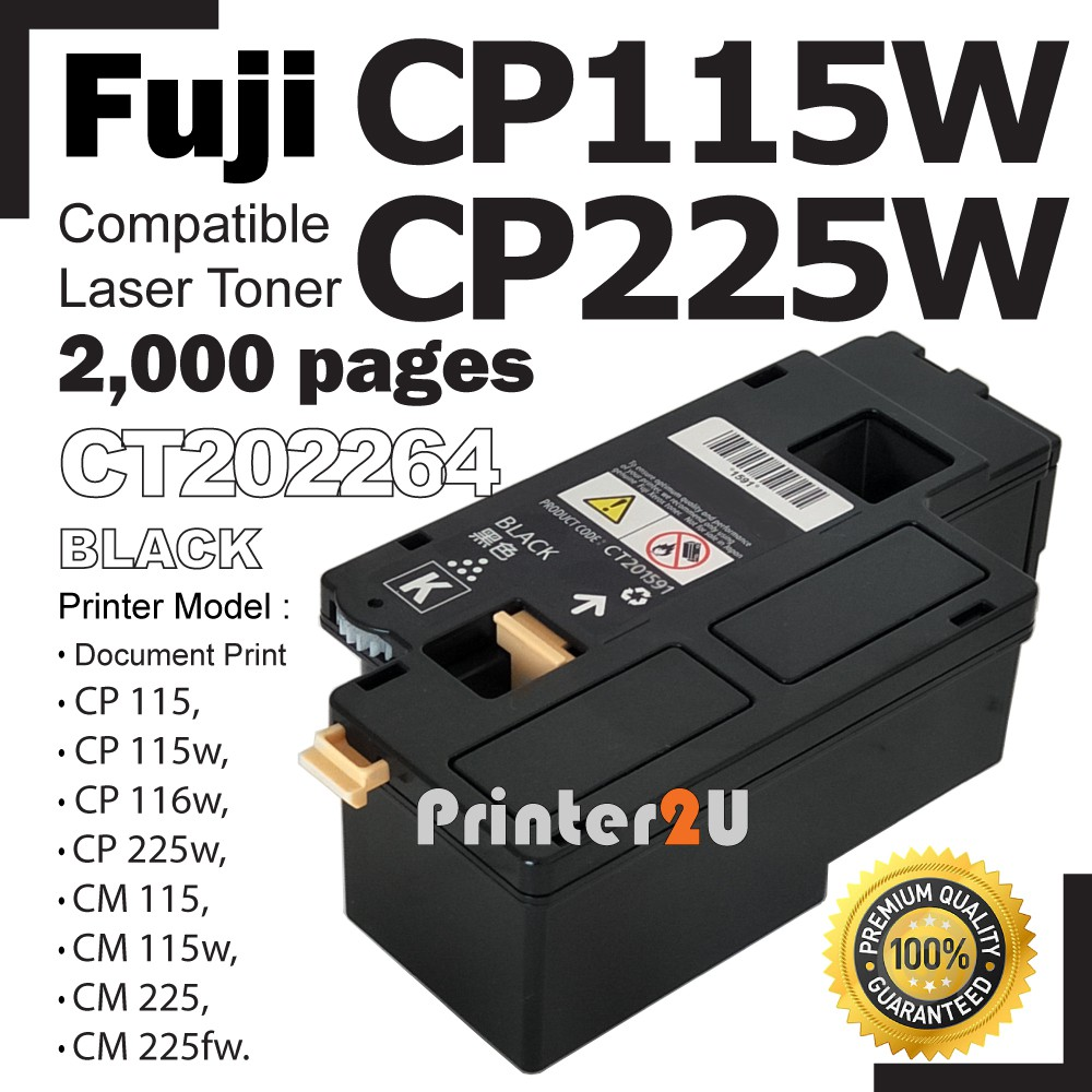 Compatible Fuji Xerox CP115W CP116W CP225W CM115W CM225FW Black Laser Toner
