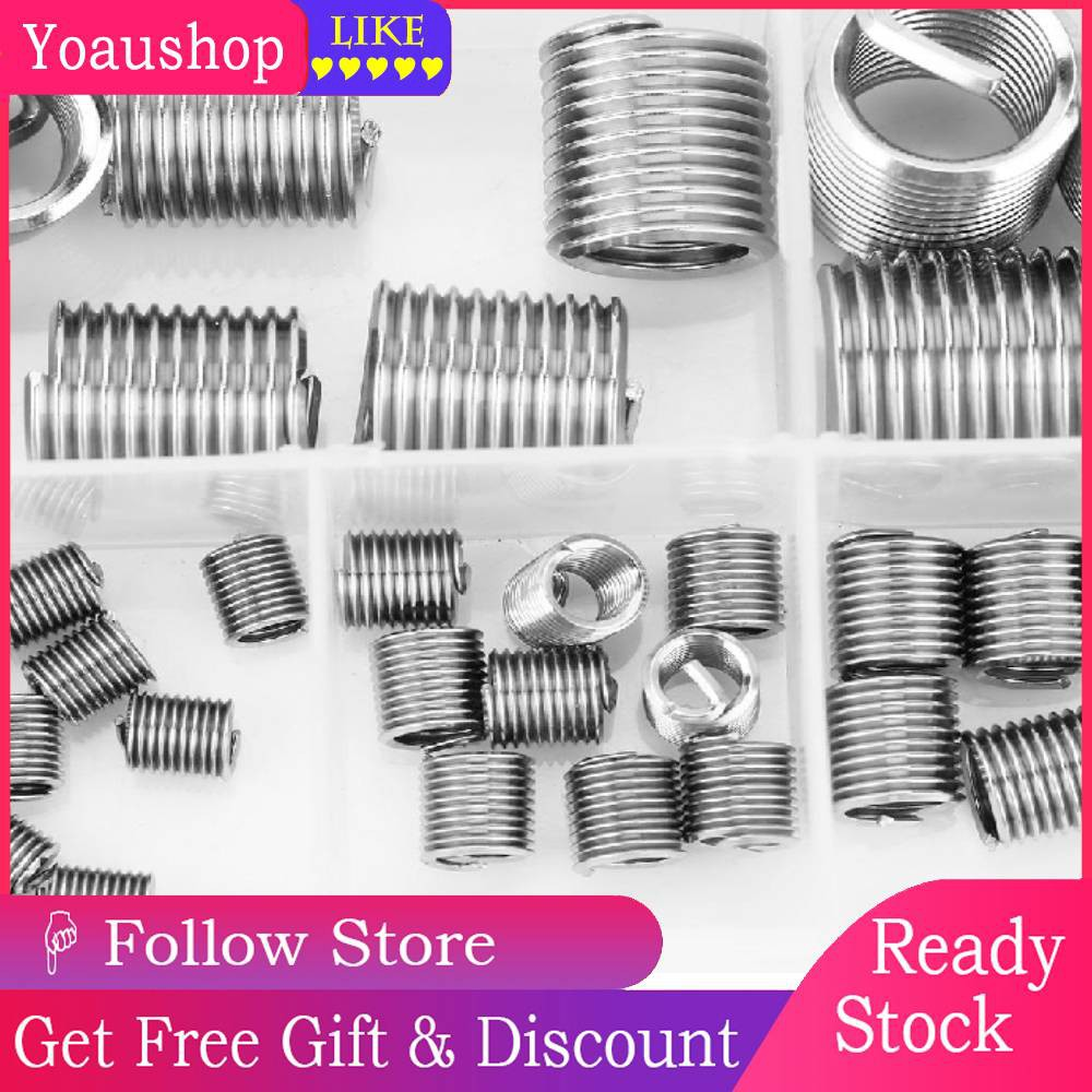 M3-M12 SS304 Helical Wire Thread Coiled Inserts Stainless Steel Screw 60pcs