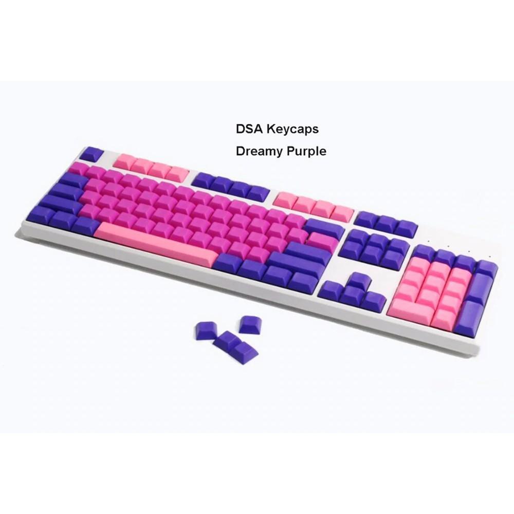 PBT Blank DSA Keycaps Dreamy Purple Mix Cherry MX Switches Mechanical  Keyboards