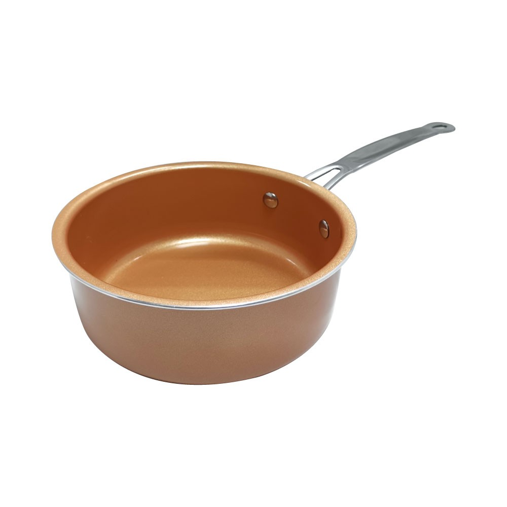 Non stick Copper Frying Pot with no Lid easy clean