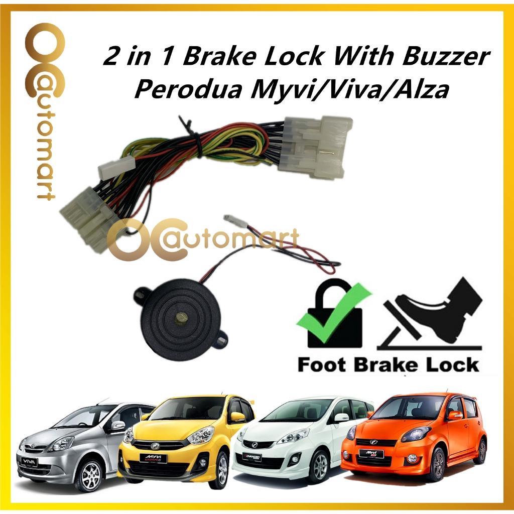 Perodua Myvi 2004-2014 Lagi Best / Icon / Viva/ Alza Old 2 in 1 Brake Lock + Buzzer