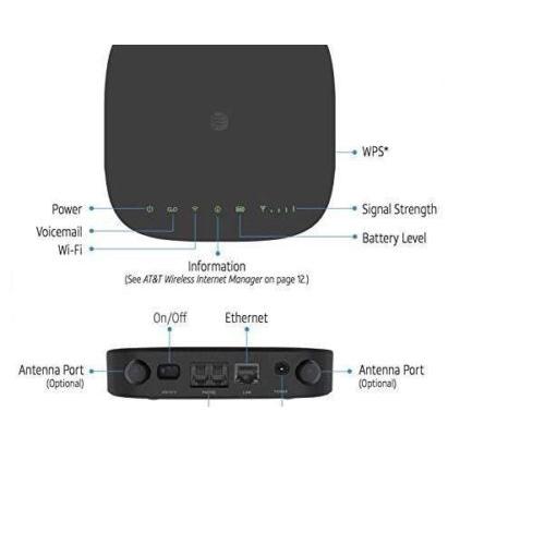 AT/&T CAT6 MF279 MF 279 ZTE LTE Internet Home Hub WiFi Router MDM92503 Wireless