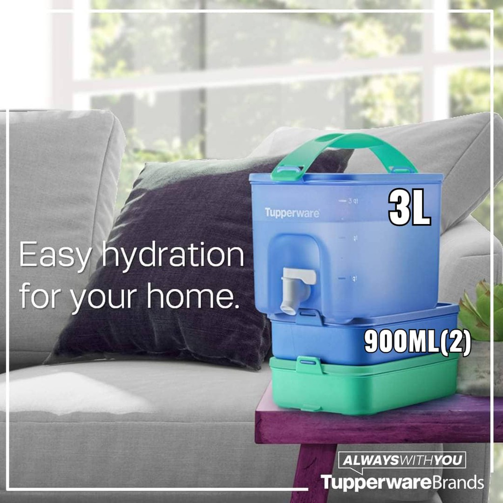 🔥Ready Stock 🔥Tupperware WATER DISPENSER / CLICK TO GO - EASY TO USE AND BRING