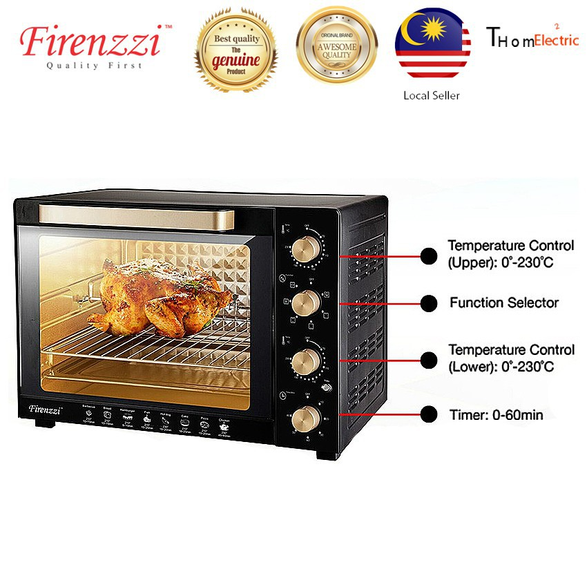 FIRENZZI TO-3035 35L ELECTRIC OVEN w 6 COOKING FUNCTION