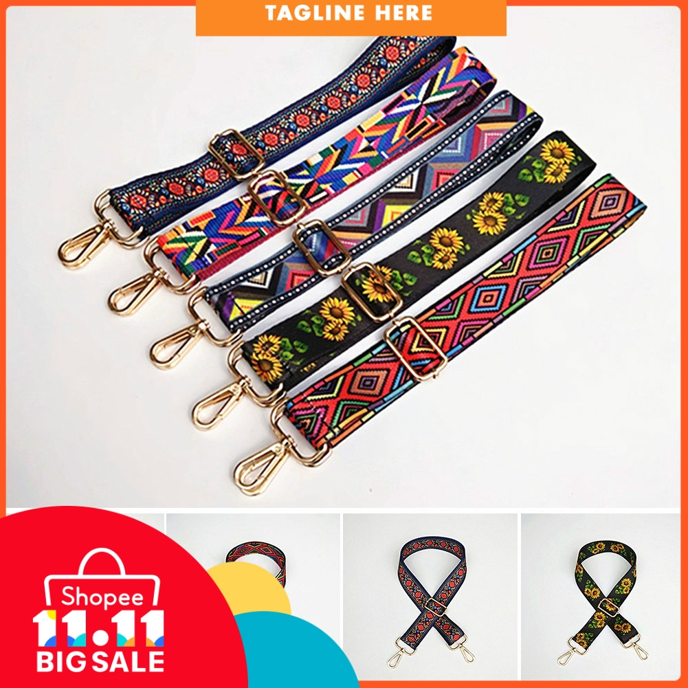 9aff54c7753e Shoulder Bag Strap Colorful Handbag Cute Ribbon Replacement Adjustable Belts