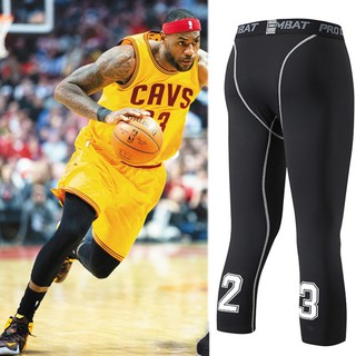 Men Bodybuilding Jogging Leggings Basketball Shorts 3 4 Yoga Pants Shopee Malaysia