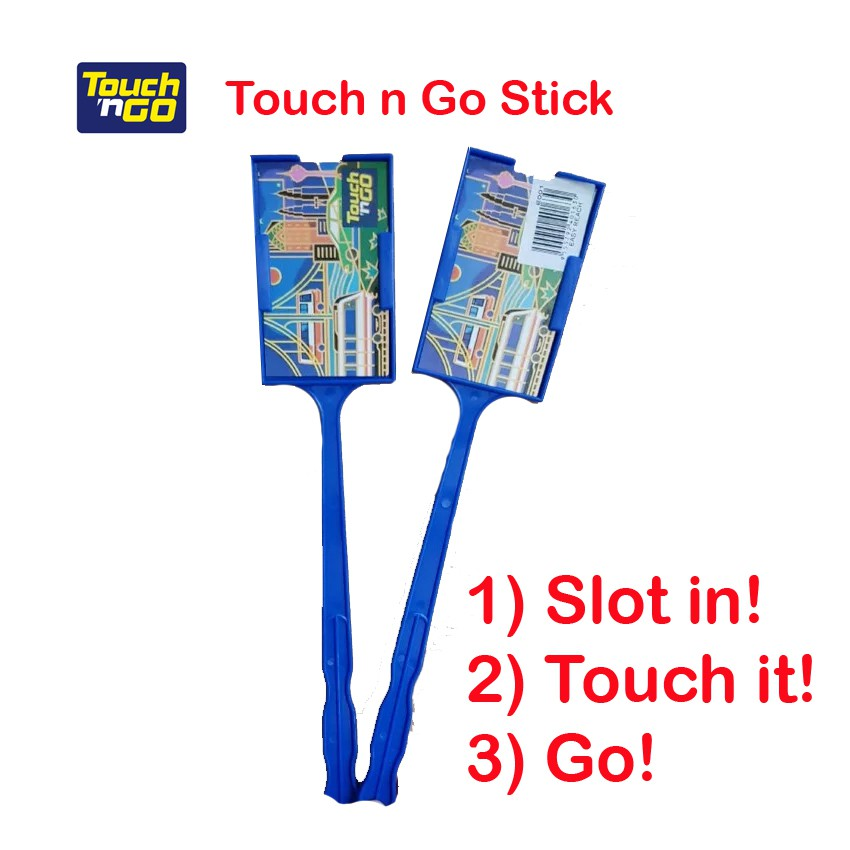 Ready Stock Touch N Go Stick With Card Holder Blue White Shopee Malaysia