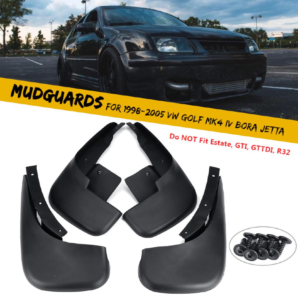 4Pcs Car Front Rear Mudguards Mud Mire Splash Guards for VW Jetta 1998-2005