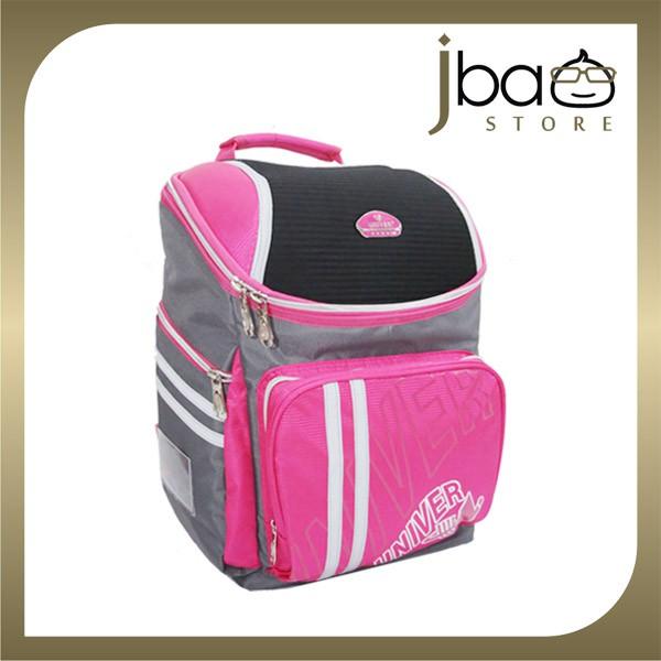 Univer School Bag Student Lightweight Backpack (Pink)