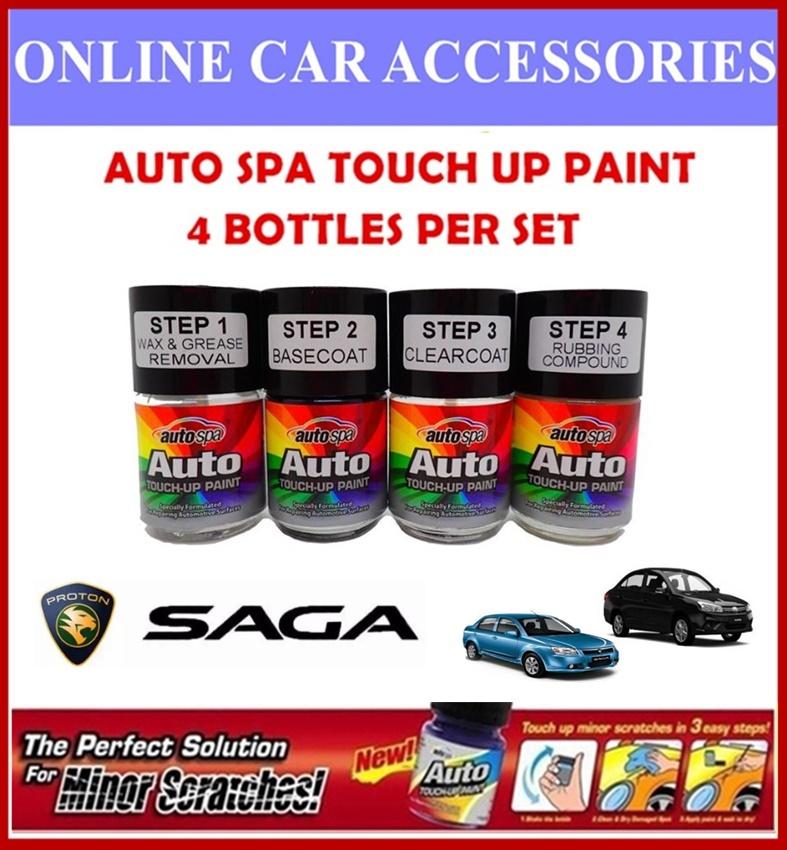 PROTON Saga Original Touch Up Paint - AUTOSPA Touch Up Combo Set (4 Bottles Per Set)
