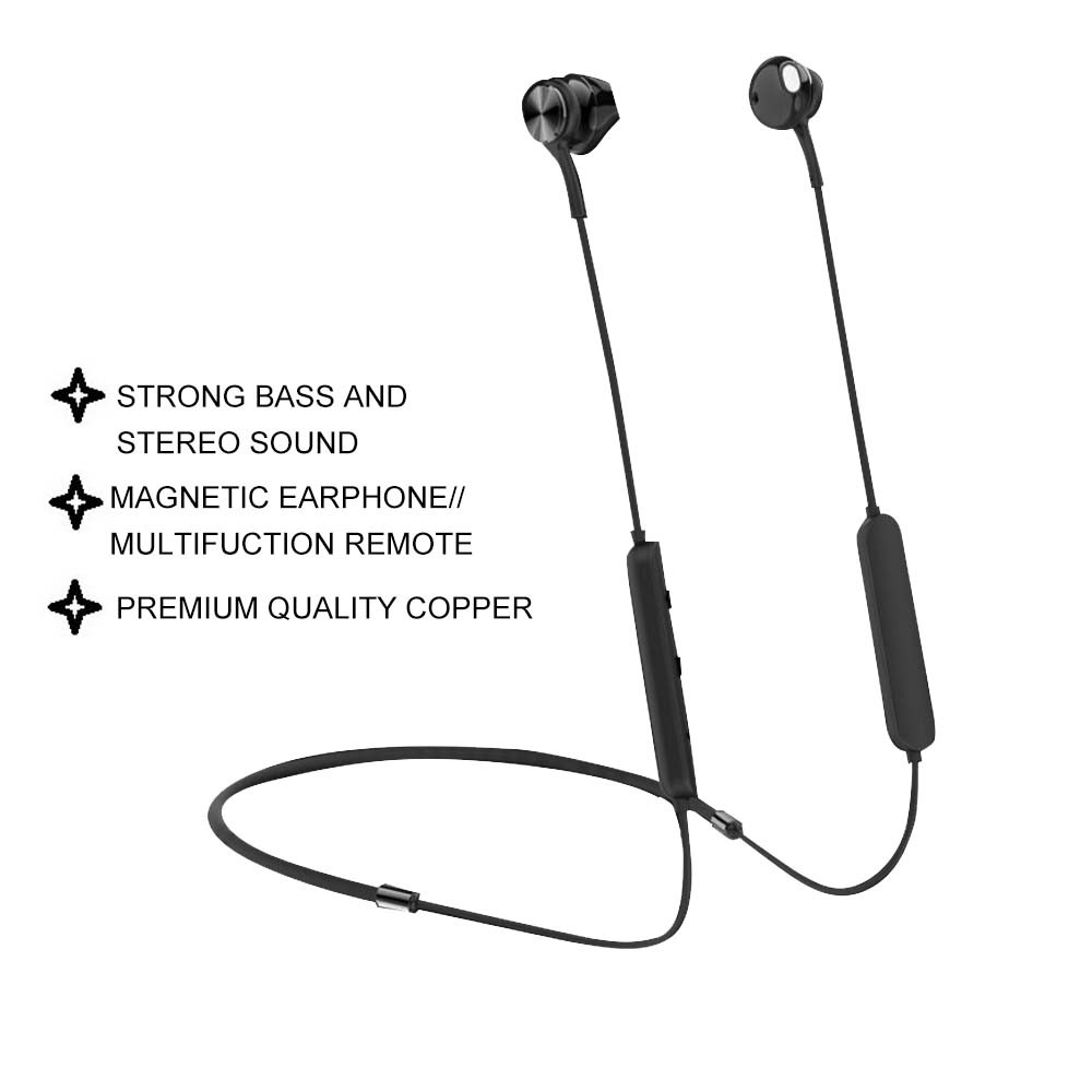 IKAKU KAKU HAOYUE Wireless Restraint Comfortable Neck-Hanging Intelligent Magnetic Sports Bluetooth Earphone Compatible