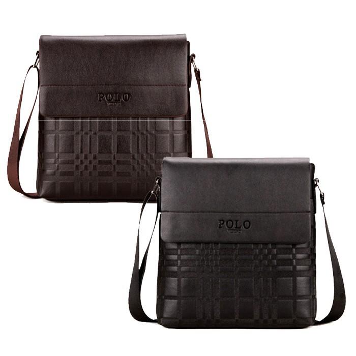 4eda0255a68f Polo Zone Man Smart Casual Cross Body Messenger Bag PU Leather Sling Bag