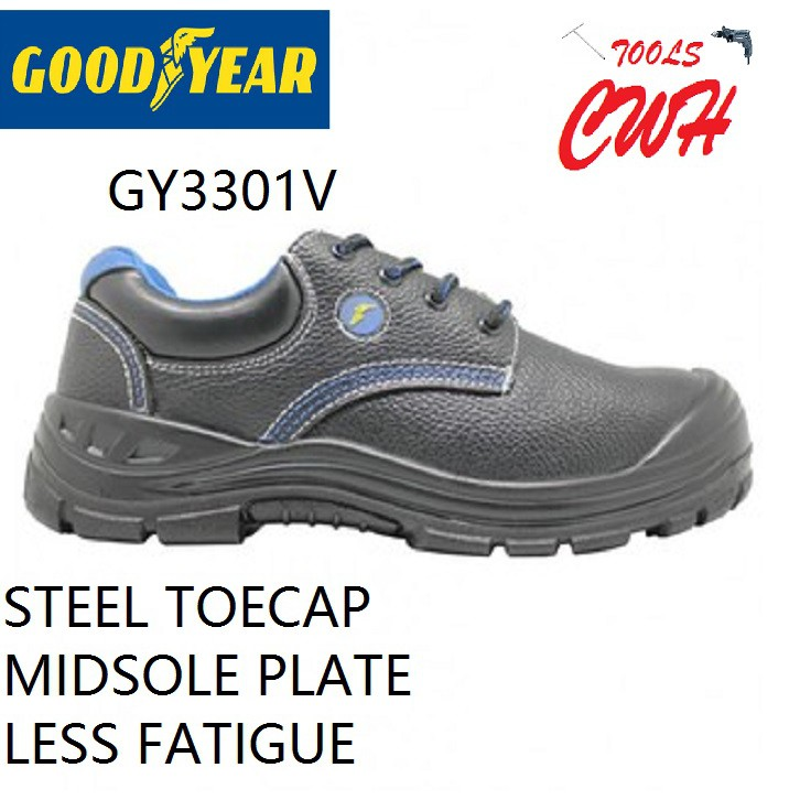 GOODYEAR GY3301V WING COMFI VALUE SAFETY SHOES SHOE BOOT BOOTS GY 3301V 3301 BLACK HARDWARE BLACKHOME CWH TOOLS